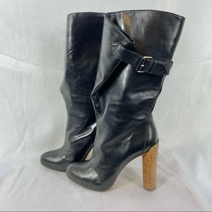BOUTIQUE 9 BT Galen black leather heeled boots 5.5